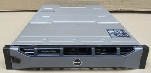 Dell Compellent SC200 36TB SAS 12 x 3TB 2x SC2 EMM Controllers Enclosure 4CMD9